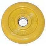 Диск обрезин.(желтый) Barbell d 51мм 1,25кг