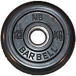 Диск обрезин.(черный) Barbell d 26мм 1,25кг