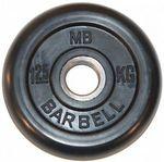 Диск обрезин.(черный) Barbell d 51мм 1,25кг
