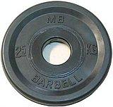 Диск обрезин.(черный) Barbell d 51мм 2,5кг